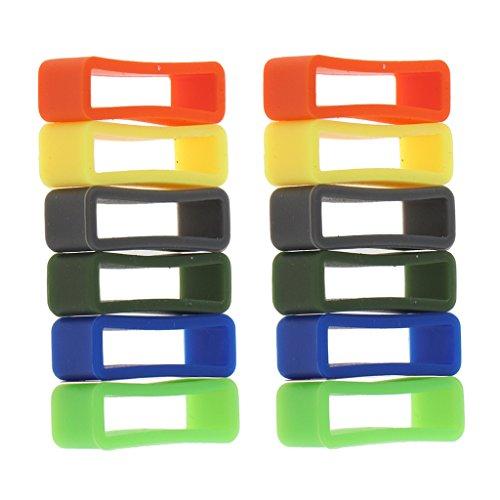 12 Stücke Gummi Uhrenarmband Schlaufe Gummihalter Halter Spind - Mehrfarbig
