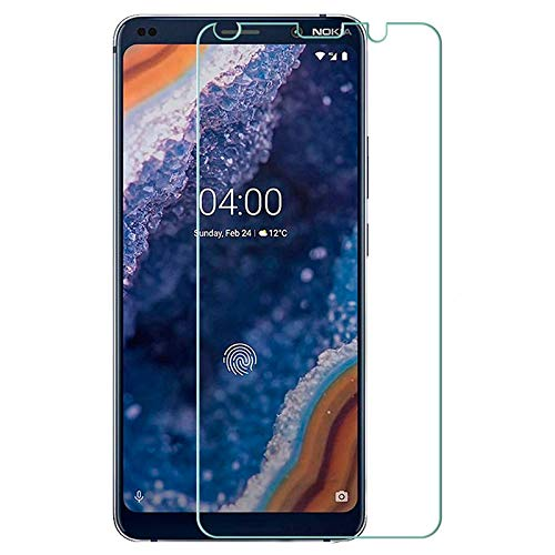 SHEEL GROW ™ Tempered Glass Screen Protector Guard (Front) with 100% Optical Resolution, Hammerproof Scratch Resistant for Nokia 9 (Trink Glass) Comes with Installation kit.(Pack of 1)