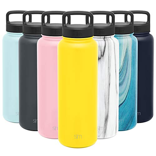Simple Modern Water Bottle Reusable Summit Wide Mouth Stainless Steel Thermos Flask, 40oz Handle...
