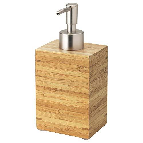 SIU Seifenspender, Bambus, strapazierfähiges Naturmaterial, einfaches Befüllen mit Lieblingsseife, montierte Größe Höhe: 160 mm, Inhalt: 350 ml
