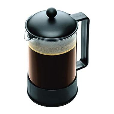 Bodum Brazil French Press Coffee Maker, 51 Ounce, 1.5 Liter, (12 Cup), Black