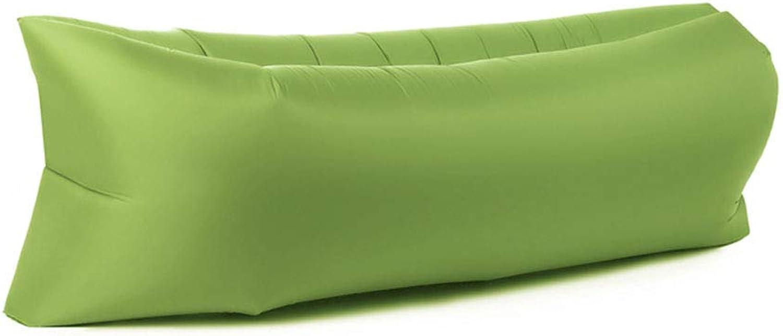 Lazy Inflatable Sofa Single Sofa Bedroom Tatami Simple Fluttering Window Chair Bean Bag Folding Sofa Transparent Inflatable Sofa Portable Sofa Chair Bed Casual air Cushion Sofa,Green