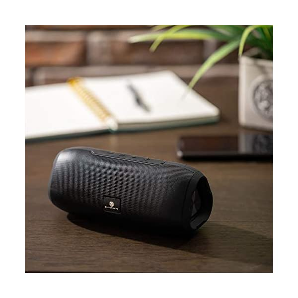 Bluetooth Speakers Portable Wireless Speaker, Loud Crystal Clear HD Stereo Sound, Rich Bass Subwoofer, Built-in Microphone, Long Range, Aux Cable Input, for Shower, Home, Travel - Black 5