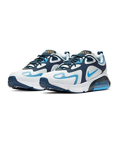 Nike Air MAX 200, Zapatillas para Correr para Hombre, White/University Blue-Midnight Navy, 48.5 EU