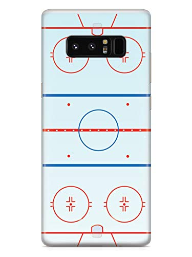 Inspired Cases - 3D Textured Galaxy Note 8 Case - Rubber Bumper Cover - Protective Phone Case for Samsung Galaxy Note 8 - Hockey Rink - Court Outline