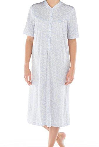 CALIDA Soft Cotton Kurzarm-Nachthemd mit Knopfleiste Damen
