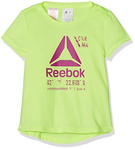 Reebok G ES Pol tee + Camiseta, niñas, Verde (Elefla), XS