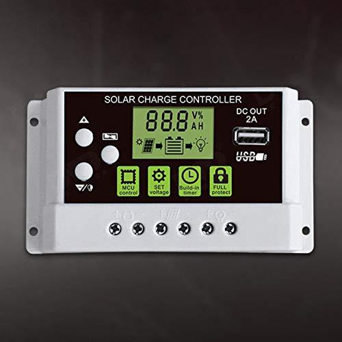 Color Yun 10A 12V / 24V Controlador de Carga Solar Interruptor Pantalla LCD Panel Solar regulador de batería Controlador de Carga para batería de Litio