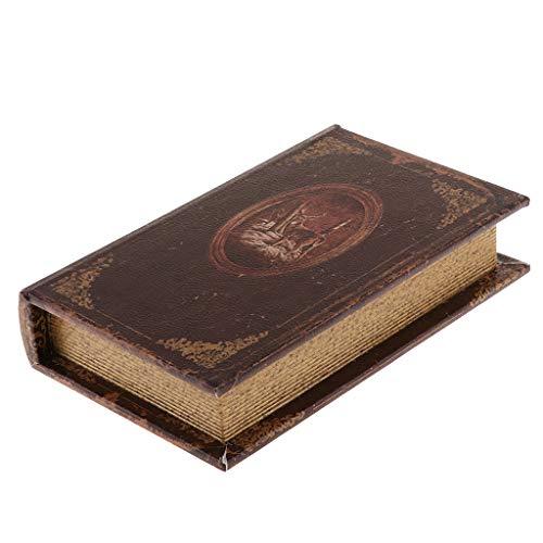 Ornamenti Libro Simulazione Vintage Copertino Worldmap per Gioielli Monili - Brown_B