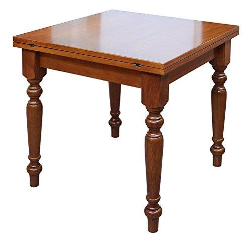 Arteferretto Table carrée Extensible 80x80 cm, Structure Solide en Bois