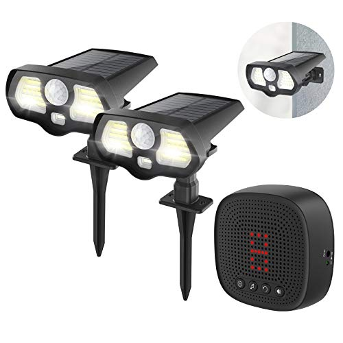 Solar Driveway Alarm with Solar LED Lights