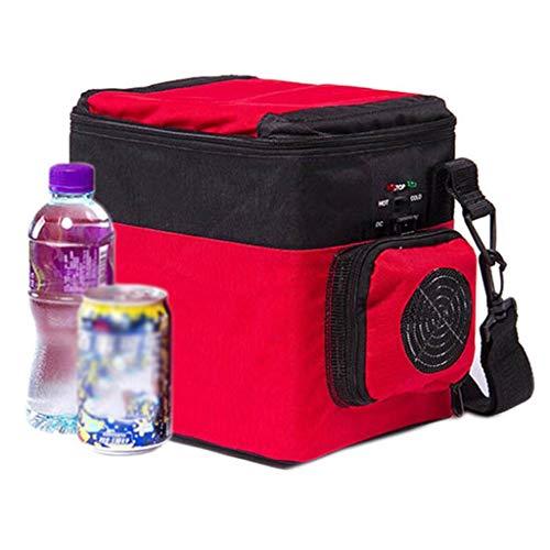 L@LILI 6L Mini Auto Kleiner Kühlschrank Auto Dual-Use-Auto Tragbare Heizung und Kühlbox Getränke Kühlung Heizung Schlafsaal Büro Kühlschrank Autozubehör Kühlschränke