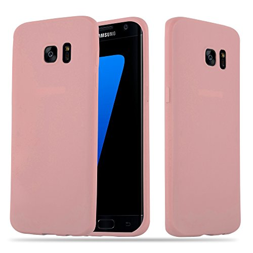 Cadorabo Hülle für Samsung Galaxy S7 Edge - Hülle in Candy ROSA – Handyhülle aus TPU Silikon im Candy Design - Silikonhülle Schutzhülle Ultra Slim Soft Back Cover Case Bumper