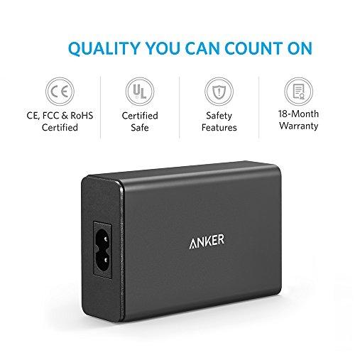 Anker PowerPort 40W 5-Port USB Ladegerät Multi-Port USB Ladegerät für iPhone 6/6 Plus, iPad Air 2 / Mini 3, Galaxy S6 / S6 Edge und weitere (Schwarz)