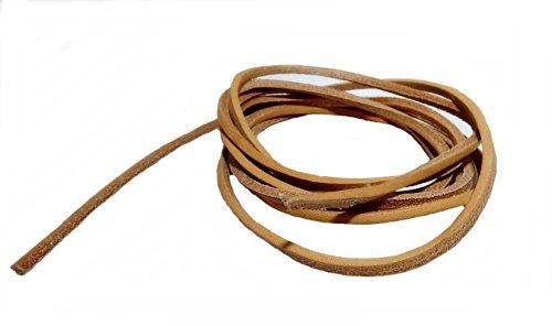 AW-Collection Lederriemen Lederschnüre Lederband Rindleder 2 m schwarz braun oder natur (natur)