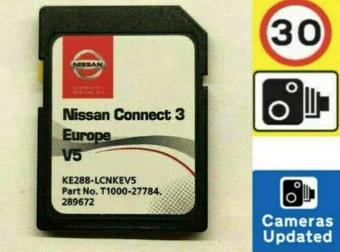 2020/2021 SD-Karte für Nissan Connect 3 (LSN3) SD-Karte Sat Nav Update V5 2020/2021 Cover alle Europa, Teilenummer KE288-LCNKEV4 T1000-26774