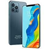 Unlocked Smartphone,2021 New I12 Pro Max 6.8 Inch 3-Camera Android 4G RAM + 32G ROM Dual SIM Call Water Drop Touch Screen Mobile Phone Cell Phone (Army Green)