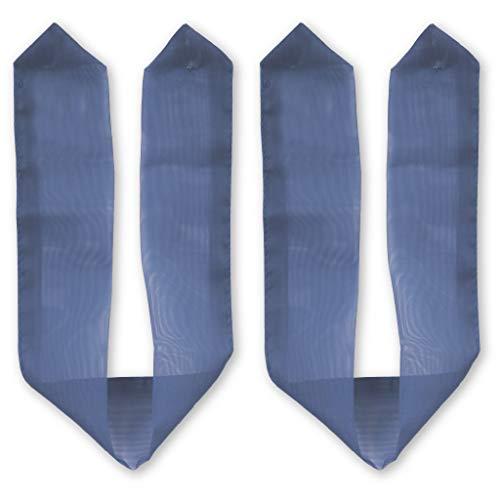 Bestlivings Raffhalter 2er Pack für Dekoschal Schlaufenschal Ösenschal Vorhang, Auswahl: blau - Mittelblau