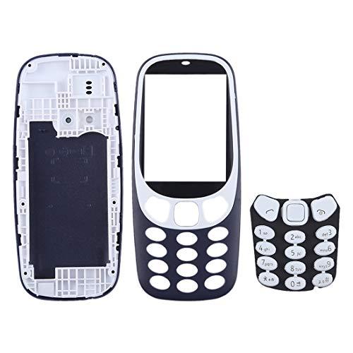 meihansiyun Accesorios de un teléfono para Nokia 3310 Accesorio Cubierta de alojamiento de Montaje Completo con Teclado (Color : Dark Blue)