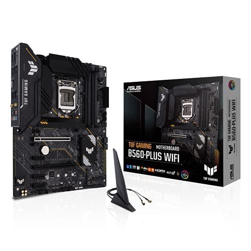 ASUS TUF Gaming B560-PLUS WiFi Scheda madre Intel B560 LGA 1200 ATX (8+1 fasi di alimentazione, PCIe 4.0, 2xM.2, HDMI 2.0, DisplayPort 1.4, SATA, USB 3.2 Gen 2 Type-C, Thunderbolt 4, Aura Sync RGB)