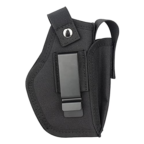 Vacod Universal Gun Holster with Mag Pouch for Concealed Carry Inside or Outside The Waistband Pistols Holsters for Right and Left Hand Draw Holster for Men/Women Black