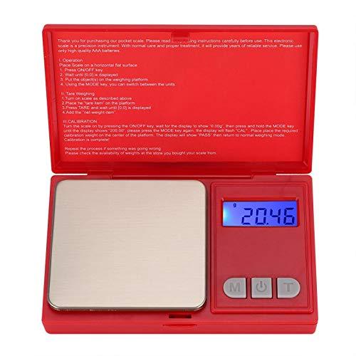 Omabeta Báscula de Alta precisión para joyería Báscula de Bolsillo portátil de Alta definición Resistente al Desgaste para Colecciones para el hogar