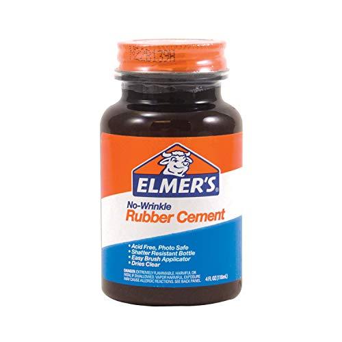 Elmer's E904 4 FL. oz./118 ml sin Arruga el Cemento de Caucho, Transparente