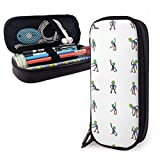 Cute Halloween Zombie Scary Themed School Pencil Case Holder Pouch Office Pen Box Zipper Bag Set Pu Leather Zip for Girls Boy Accesorios