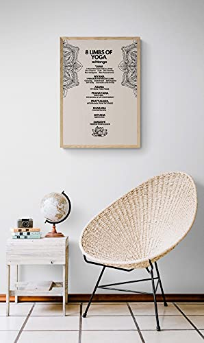 MG global 8 extremidades de yoga Ashtanga imprimibles, meditación minimalista Zen Wall Art, decoración del hogar, regalo para amigos, familia, sin marco, arte de pared