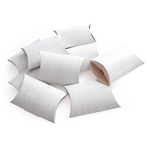 Logbuch-Verlag 10 mini cajas de regalo de color blanco, 14,5 x 10,5 x 3 cm, para invitados, bodas, fiestas, regalos