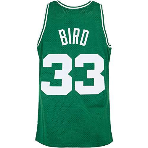 Mitchell & Ness Swingman Larry Bird Boston Celtics 85/86 Trikot (XXL, Green/White)