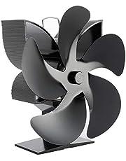 5 Mesjes Warmte Aangedreven Ventilator, Eco-vriendelijke Warmtecirculatie Stil Haard Ventilator Met Oververhittingsbeveiliging Voor Hout/Houtkachel/Open Haard (SF902S)