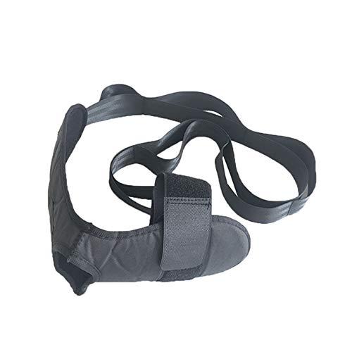 TWH Yoga Gürtel Yoga Band Verstellbarer Bein Stretcher Dehnungsgürtel Fuß Rehabilitation Gurt Plantar Fuß Knöchel Gelenk Korrektur Hosenträger mit Schlaufen Schwarz