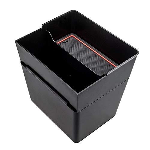 Womdee Mittelkonsole Organizer Tablett für Tesla Modell 3, Dual Mülleimer und Aufbewahrungskorb, tragbar, waschbar, Sonnenbrillenhalter, Tesla Modell 3 Zubehör 2017-2019