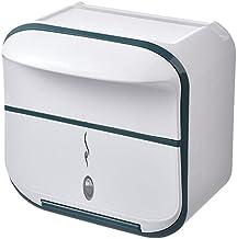 Toiletpapierrolhouder, Moderne Tissue Roll Dispenser Rond voor Badkamer Keuken Wasruimte -Wit groen