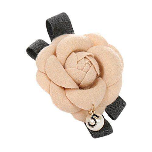 Hair Clips Camellia Barrettes Kaki classique pour l'été Date de bonne mine Fleur
