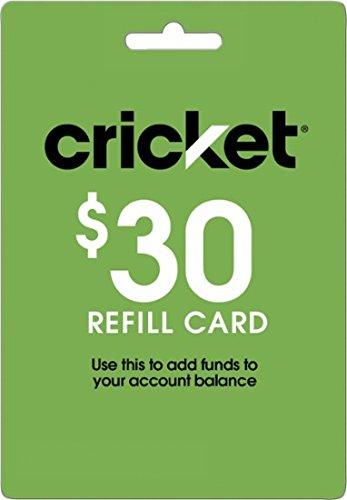 Cricket Refill Card $30 Cricket Wireless Refill Card $30