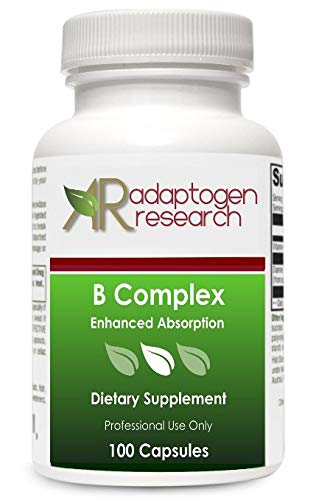 B Complex Supplement | High Potency B-Complex Vitamins with Riboflavin Niacin Folate Vitamin B6 B12 as Methylcobalamin Biotin & more | Enhanced Absorption | 100 Vegetarian Capsules
