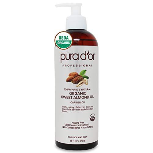 PURA D'OR Organic Sweet Almond Oil …