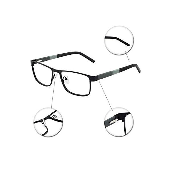 OCCI CHIARI Men Metal Optical Eyewear Frame With Clear Lenses Eyeglasses