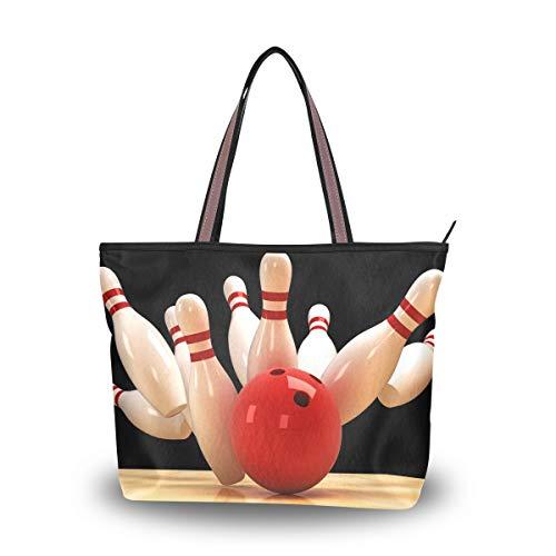 HMZXZ RXYY Sport Bowling Ball Handtaschen und Geldbörse für Frau Tote Tasche groß Kapazität obenGriff Käufer Schulter Tasche