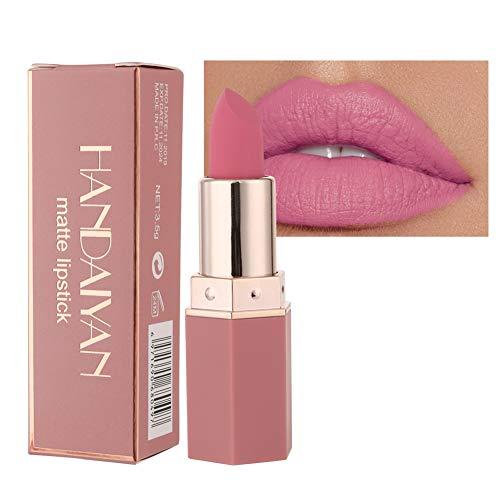 GL-Turelifes Matte Lipstick Samtige rote Lippenstifte Wasserdichte, lang anhaltende, glättende Antihaft-Tasse Sexy Colors Lipsticks (# 02 Barbie Pink)