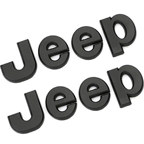 XCBW Car Front Logo Emblem Sticker for J-eep Wrangler Tj Jk Jl Grand Cherokee Commander Renegade Liberty Compass Refit Accessories,Black