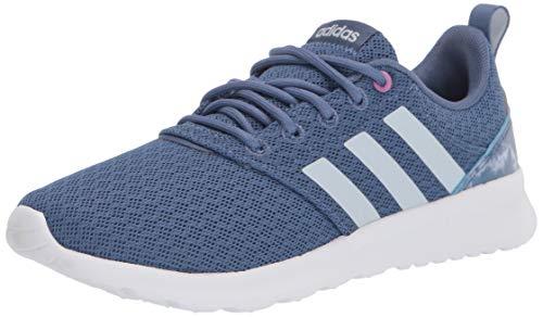 adidas,womens,QT Racer 2.0,Crew Blue/Halo Blue/Cherry Metallic,8