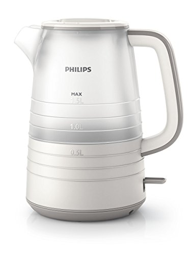 Philips HD9334/20 Wasserkocher, 2200 W, 1,5 L, transparent/weiß