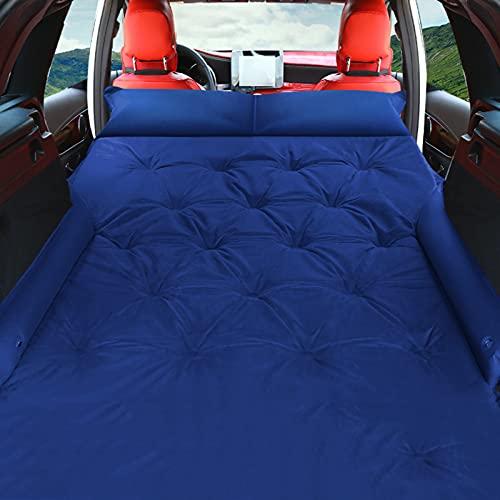 GELEI Materasso ad aria automatico per auto, portatile e automatico, materasso da campeggio per SUV, bagagliaio da viaggio, per escursionismo, amaca, tenda, a prova di umidità e compatto, blu