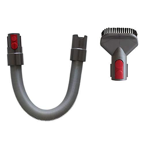 LiuQ Accesorios para aspiradoras Accesorio de la Boquilla de la Cabeza de Cepillo con Cerveza Duro y Manguera telescópica Compatible con Dyson V11 V10 V8 V8 Cleaner de aspiradora Kit Filtrar