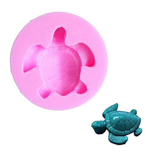 Efivs Arts Sea Turtle Silicone Mold Turtle Fondant Mold Chocolate Baking Mold Turtle Soap Mold for Clay, Resin, Ice, Cake&Cookie Decoration