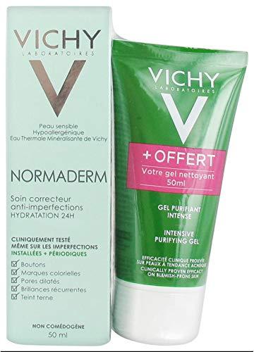 Vichy Normaderm Corrector Anti-Fleckenpflege 24H Hydration 50 ml + Gratis Reinigungsgel 50 ml