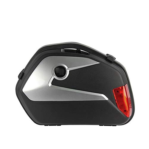 GIAOGIAO Motorrad-Trunk 2 Stück Schwarz Motorrad-Endstück-Box Motorrad Seitenkoffer ABS-Kunststoff 21L (Color Name : 9)